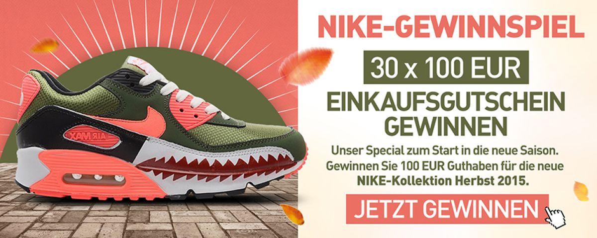 cheap for discount 73fb1 99656 Nike Gewinnspiel