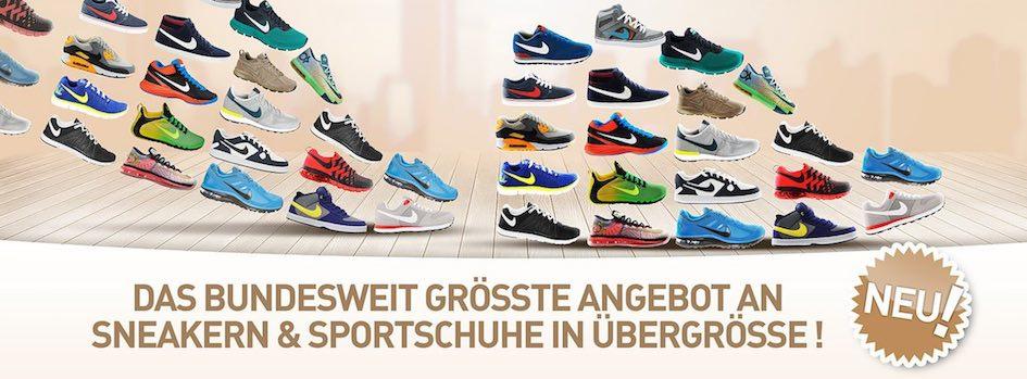 the best attitude dc03d f6c4d Nike Sneaker und Sportschuhe in Übergrösse